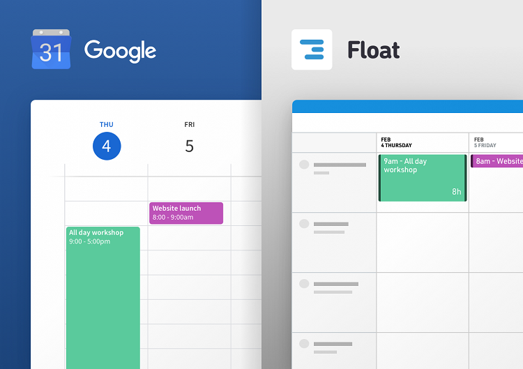 Sync Your Google Calendar Events with Float
