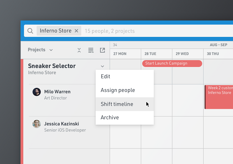 Shift Project Timelines and Set Variable Work Hours
