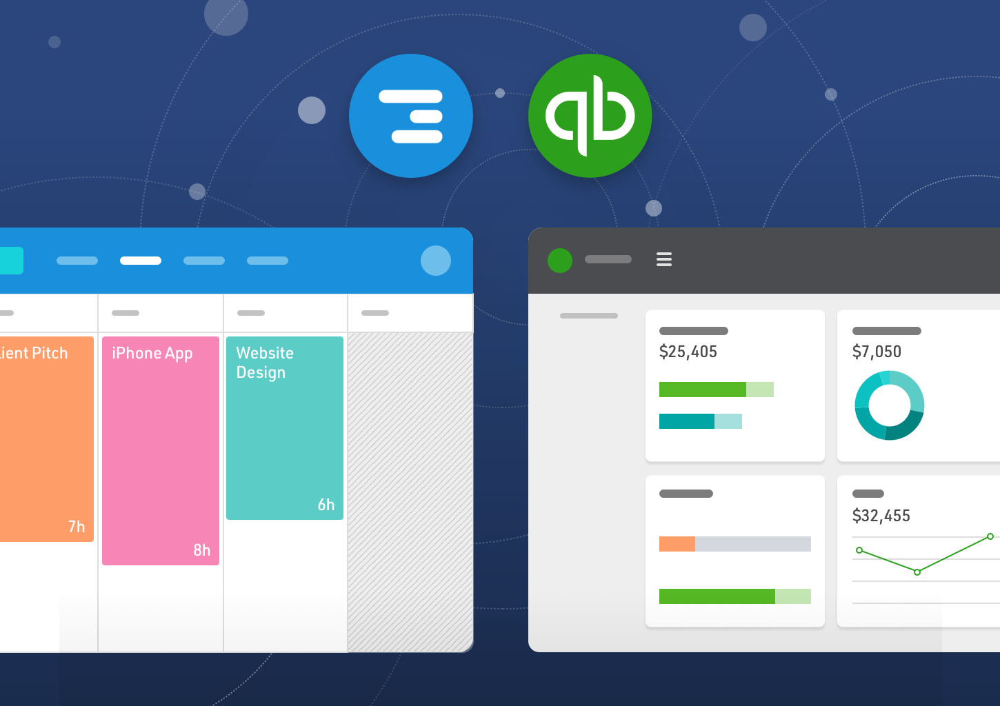 Schedule Projects and Manage Logged Time With Float + QuickBooks
